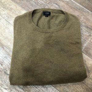J. Crew   olive green crew sweater